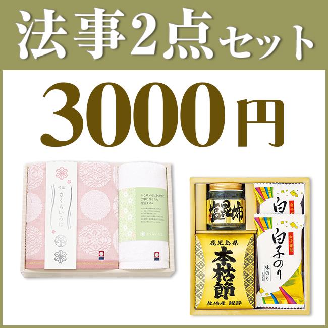 法事2点セットSPC-HO-06(海幸彩&今治白なみタオル)