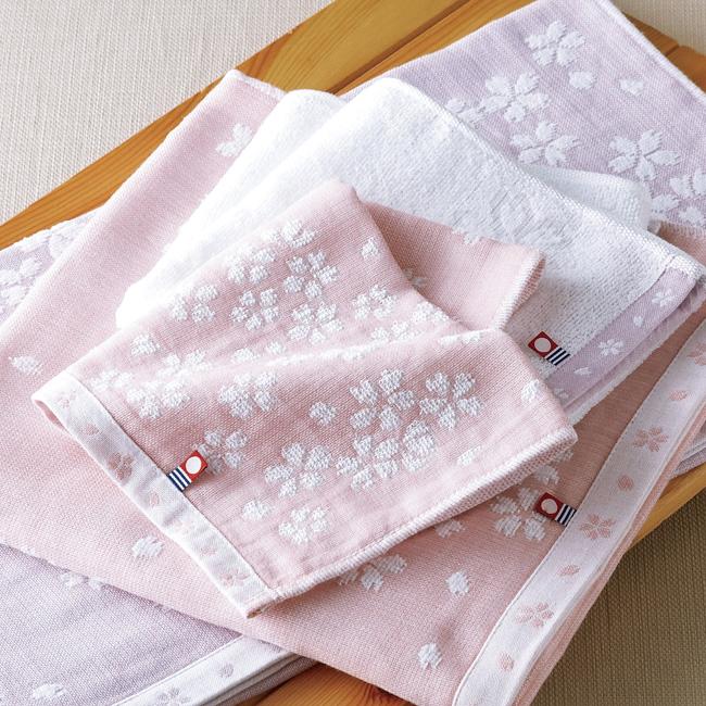 桜おり布 フェイスタオル2P No.20 (ピンク)