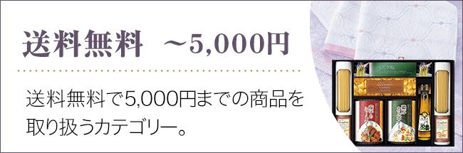 送料無料~5000円