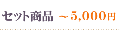 セット商品5000円